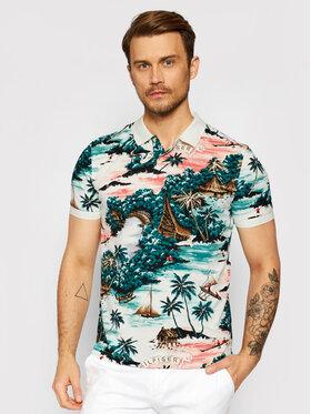 Tommy Hilfiger Tommy Hilfiger Тениска с яка и копчета Hawaiian Print MW0MW18353 Зелен Regular Fit