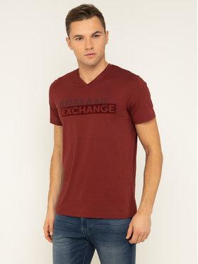 Armani Exchange Armani Exchange T-shirt 3HZTBF ZJA5Z 1701 Bordeaux Slim Fit