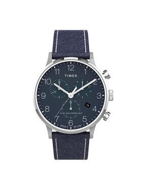 Timex Timex Laikrodis The Waterbury TW2T71300 Tamsiai mėlyna