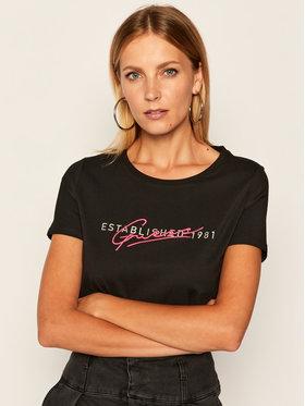 Guess Guess T-Shirt Ss Cn Genziana Tee W0YI47 I3Z00 Černá Slim Fit