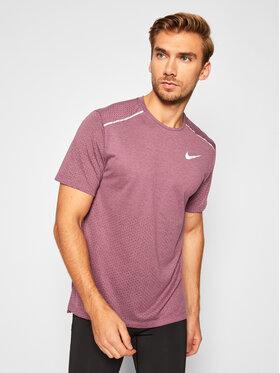 Nike Nike Тениска от техническо трико Rise 365 AQ9919 Бордо Standard Fit