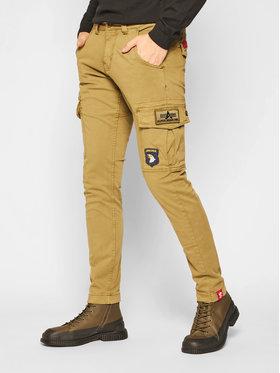 Alpha Industries Alpha Industries Pantalon en tissu Petrol Patch 178207 Vert Slim Fit
