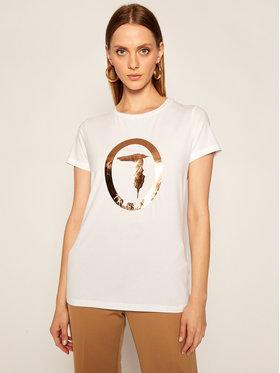 Trussardi Jeans Trussardi Jeans T-Shirt 56T00280 Bílá Regular Fit