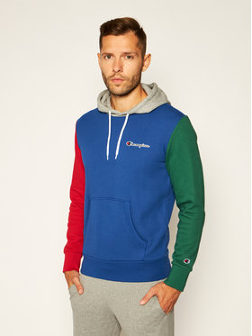 Champion Champion Sweatshirt Contrast Colour Block 214356 Bleu Comfort Fit