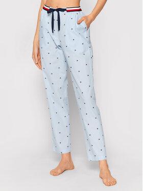 Tommy Hilfiger Tommy Hilfiger Spodnie piżamowe Woven UW0UW02840 Niebieski Regular Fit