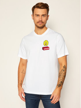 Levi's® Levi's® T-Shirt LEGO Thun Nam 16143-0220 Weiß Relaxed Fit