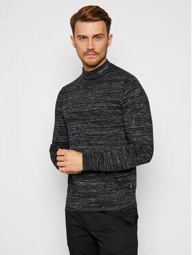 Calvin Klein Calvin Klein Пуловер Heather Mock Neck K10K105743 Черен Regular Fit