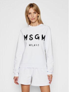 MSGM MSGM Mikina 3041MDM89 217299 Biela Regular Fit