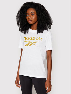 Reebok Reebok T-shirt Identity Logo GU2572 Bianco Regular Fit