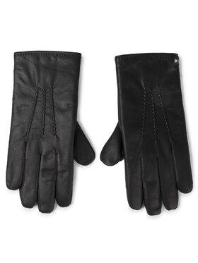 TOMMY HILFIGER TOMMY HILFIGER Gants homme Flag Leather Gloves Gp AM0AM05184 Noir