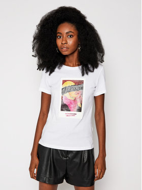 Guess Guess T-Shirt Polaroid W0BI0K JA900 Biały Regular Fit