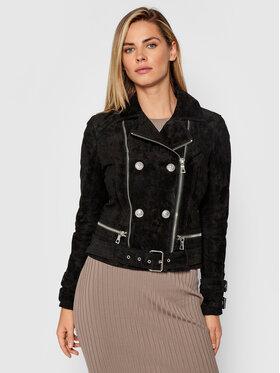 Guess Guess Veste en cuir Olivia W1BL17 L0PF0 Noir Slim Fit