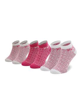 Fila Fila Súprava 3 párov členkových dámskych ponožiek Calza F6106 Ružová