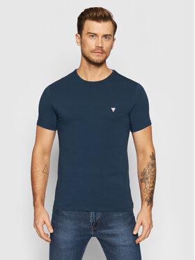 Guess Guess Marškinėliai U1BM00 K6YW1 Tamsiai mėlyna Regular Fit