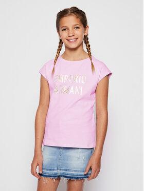 Emporio Armani Emporio Armani Marškinėliai 3H3T02 3J2IZ 0322 Violetinė Regular Fit