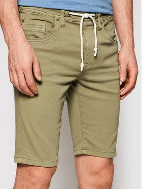 Pepe Jeans Pepe Jeans Bavlnené šortky Jagger PM800720 Zelená Regular Fit