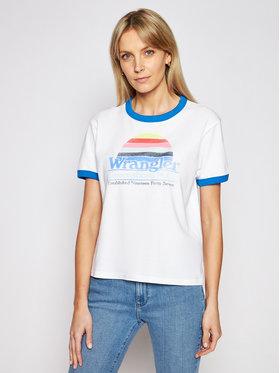 Wrangler Wrangler T-shirt Ringer W7S0DR989 Bianco Relaxed Fit