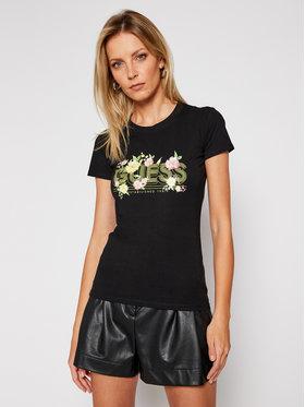 Guess Guess T-Shirt Janel W0BI71 J1300 Černá Slim Fit