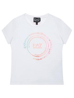 EA7 Emporio Armani EA7 Emporio Armani T-shirt 3HFT59 FJT2Z 1100 Bijela Regular Fit