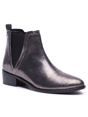 Pepe Jeans Pepe Jeans Kotníková obuv s elastickým prvkem Chiswick Rt PLS50389 Stříbrná