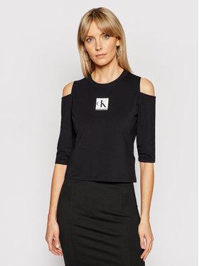 Calvin Klein Jeans Calvin Klein Jeans Majica J20J215323 Crna Slim Fit