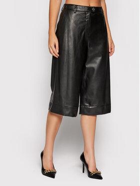 Trussardi Trussardi Spodnie z imitacji skóry 56P00250 Czarny Regular Fit