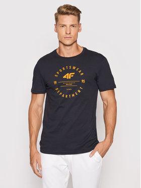 4F 4F T-Shirt H4L21-TSM030 Granatowy Regular Fit