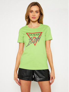 Guess Guess T-shirt Iconic Tee W1RI25 I3Z00 Verde Regular Fit
