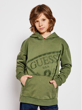 Guess Guess Μπλούζα L0BQ05 K82T0 Πράσινο Regular Fit