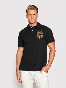 Polo Ralph Lauren Polo Ralph Lauren Тениска с яка и копчета 710850303002 Черен Slim Fit
