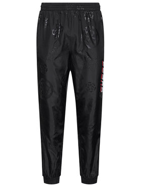 Guess Guess Pantaloni di tessuto All Over Print U0BA46 WDFH0 Nero Regular Fit