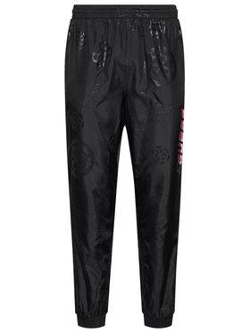 Guess Guess Текстилни панталони All Over Print U0BA46 WDFH0 Черен Regular Fit