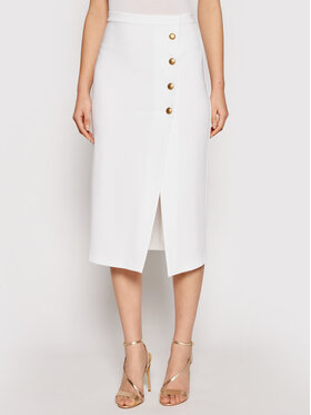 Pinko Pinko Midi suknja Monsone 3 1G160H 5872 Bijela Regular Fit