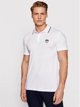 EA7 Emporio Armani EA7 Emporio Armani Тениска с яка и копчета 3KPF05 PJ03Z 1100 Бял Regular Fit