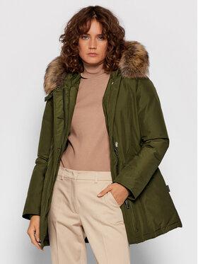 Woolrich Woolrich Zimska jakna Arctic Raccoon CFWWOU0538FRUT0001 Zelena Regular Fit