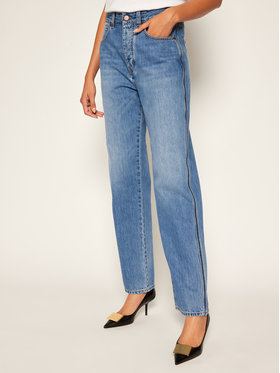 Victoria Victoria Beckham Victoria Victoria Beckham Jeansy Relaxed Fit 2320DJE001376A Tamsiai mėlyna Relaxed Fit