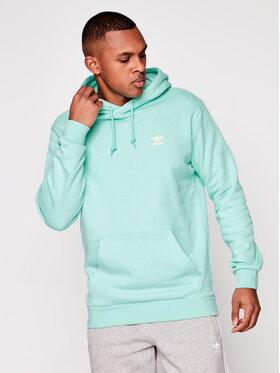 adidas adidas Džemperis Trefoil Essentials GN3391 Žalia Regular Fit