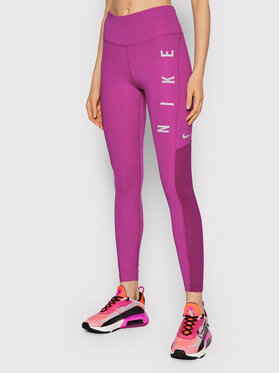 Nike Nike Legginsy Epic Fast Run Division CZ9592 Fioletowy Tight Fit