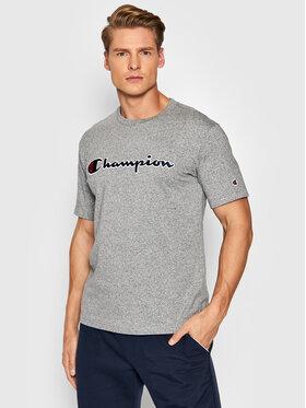 Champion Champion T-Shirt Script Logo 216473 Szary Comfort Fit