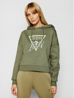 Guess Guess Суитшърт Icon W1RQ05 K68I0 Зелен Relaxed Fit