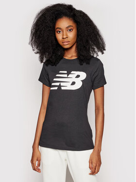 New Balance New Balance Póló Classic Flying Nb Graphic Tee WT03816 Fekete Athletic Fit
