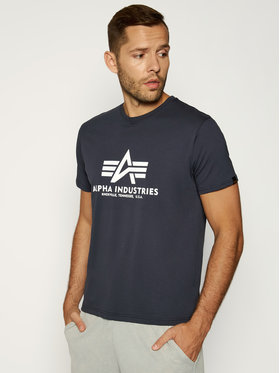 Alpha Industries Alpha Industries T-Shirt Basic 100501 Granatowy Regular Fit