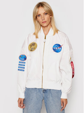 Alpha Industries Alpha Industries Kurtka bomber 116005 Biały Oversize