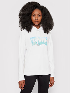 Levi's® Levi's® Bluza Graphic Standard 18487-0069 Biały Regular Fit