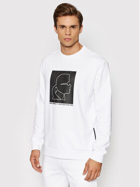 KARL LAGERFELD KARL LAGERFELD Sweatshirt 705078 512900 Blanc Regular Fit