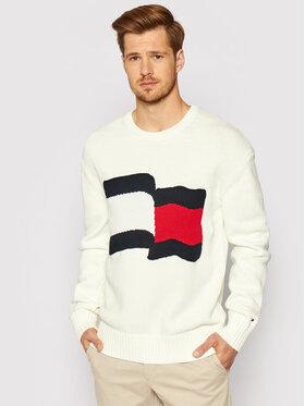 Tommy Hilfiger Tommy Hilfiger Sweter Big Graphic MW0MW17366 Beżowy Regular Fit