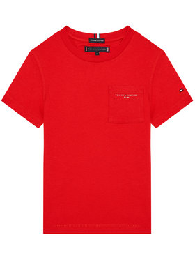 Tommy Hilfiger Tommy Hilfiger T-Shirt Essential Pocket KB0KB06556 M Czerwony Regular Fit