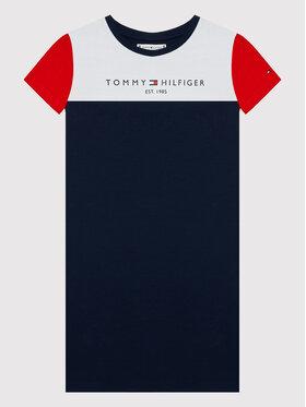 Tommy Hilfiger Tommy Hilfiger Každodenné šaty Colourblock KG0KG06036 M Tmavomodrá Regular Fit