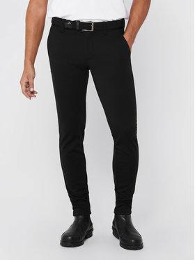 Only & Sons ONLY & SONS Bavlnené nohavice Mark 22010209 Čierna Slim Fit