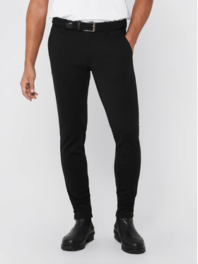 Only & Sons ONLY & SONS Παντελόνι υφασμάτινο Mark 22010209 Μαύρο Slim Fit